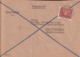 General Gouvernement Lettre De Service Warschau Pour L'Allemagne 1944 - Governo Generale