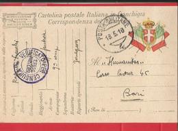 CARTOLINA IN FRANCHIGIA MILITARE -PM. 4 - - War 1914-18