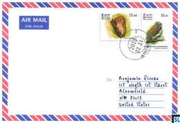 Sri Lanka Stamps, Owl, Owls, Personalized Cover - Sri Lanka (Ceylon) (1948-...)