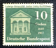 Deutsche Bundespost  - A1/7 - (°)used - 1957 - Michel 258 - Universitiet Giessen - Used Stamps