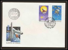 10531a/ Espace (space Raumfahrt) Lettre Cover 4/5/1991 Europa 91 Titan Saturn Hongrie (Hungary) Non Dentelé (imperforate - Europa