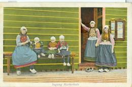 Marken 1936; Ingang Markerhuis (Costumes) - Gelopen. (Luxe Papierwarenhandel - Baarn) - Marken
