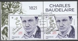 """2021 - Y/T 54xx - """"CHARLES BAUDELAIRE 1821 - 1867"""" - BLOC 2T BDF ISSU FEUILLET - OBLITERE 1er JOUR 09.04.21 - 2010-.. Matasellados"""