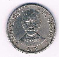 25 CENTAVOS 1978  DOMINICAANSE REPUBLIEK /3213/ - Dominicana