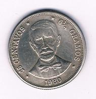 25 CENTAVOS 1980  DOMINICAANSE REPUBLIEK /3214/ - Dominicana