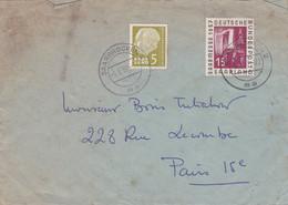 Enveloppe Saarbrücken  à Paris - Covers & Documents