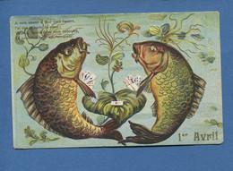 Anthropomorphisme 1er Avril Poisson Jolie Carte Gaufrée Poisson Partie De Cartes à Jouer Jeu - 1° Aprile (pesce Di Aprile)