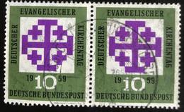 Deutsche Bundespost  - A1/8 - (°)used - 1959 - Michel 314 - Evangelische Kerkdag - Used Stamps