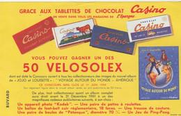 Buvard Tablettes Chocolat CASINO Gagnez 50 VELOSOLEX - Bikes & Mopeds