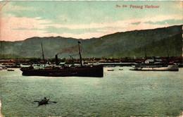 Malaysia, Penang, Penang Harbour, Vintage Postcard - Malaysia