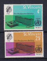 St Vincent: 1966   W.H.O. HQ Inauguration    MNH - St.Vincent (...-1979)