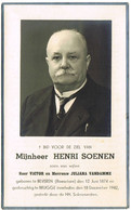 Beveren (Roeselare) : 1942, Mijnheer Henri Soenen ( 2 Scans) - Devotion Images