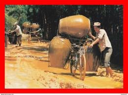 CPSM/gf.  THAILANDE.  Transport En Vélo Des énormes Jarres En Terre Cuite ..F809 - Ambulanti