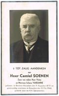 Beveren (Roeselare) : 1946, Mijnheer Camiel Soenen ( 2 Scans) - Devotion Images
