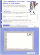 Grand Concours Du Timbre à Créer Bulletin De Participation Philexjeunes 1997 Nantes Format A4 - Sonstige