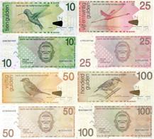 NETHERLANDS ANTILLES 10 25 50 100 Gulden 2016 Set P 28 29 30 31 UNC - Netherlands Antilles (...-1986)