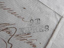 LAC  De Ipres (Ieper) 23 Juni 1807. Griffe-langstempel 91 Ypres Vers Gand, D'Hoop Van Alstein - Manuscripts