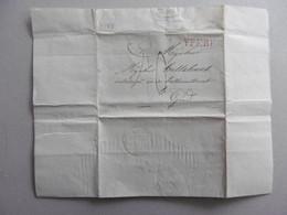 LAC  De Rousbruggge (Roesbrugge) 6-8-1829. Griffe-langstempel YPEREN Rouge + Oblit GAND Rouge. Verkoop Huis - Manuscripts