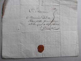 LAC  De YPRES (Ieper) Griffe Rouge Ipres 10 Decembre 1748 Vers Gramont (Geraardsbergen), Voyage à Warneton, Wervicq - Manuscripts