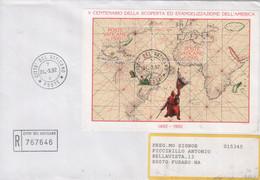 """Vaticano - 1992 - FDC - """"5° Centenario Della Scoperta Dell'America"""" In Foglietto - FDC"""