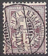 Schweiz Suisse 1889: Faserpapier Mêlé Zu 64Aa Mi 57X Yv 69 - 15c Matt-lila O LUZERN 30.VI.94 NACHNAHMEN (Zu CHF 28.00) - Gebruikt