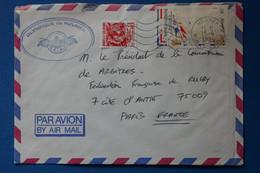 Q3 NOUVELLE CALEDONIE BELLE LETTRE 1990 NOUMEA POUR PARIS +FED RUGBY FRANCE + AFFRANCH. PLAISANT - Cartas