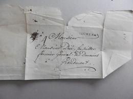LSC COURTRAI (Kortrijk) Griffe Noire Courtrai Sans Date -vers 1750 Herlant)- Vers Gramont (Geraardsbergen) 4 Solz Port - Manuscripts