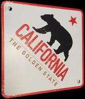 Plaque Métallique Décorative Carrée California The Golden State - Plaques En Tôle (après 1960)