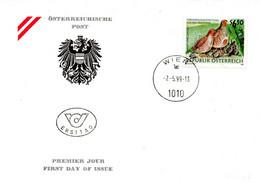 AUTRICHE. N°2108 De 1999 Sur Enveloppe 1er Jour. Perdrix. - Grey Partridge