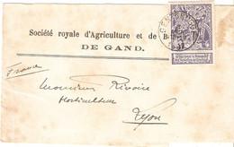 BELGIQUE . BANDE JOURNAL . DE GENTBRUGGE . 1897 . POUR FRANCE . TIMBRE 71 . Rousseurs - Altri