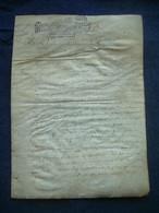 MANUSCRIT..PARCHEMIN VELIN XVIIe S. 1692.. NORMANDIE, VICOMTE D'ALENCON, PUTANGES.. à Déchiffrer.. GENERALITE.. CACHET - Manuscripts