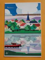 """Concorde - Enghien Les Bains - Juin 1989 - CPM """" Le Val...d'Oise.. """" Illustrateur Foré - Tirage N° 696 Sur 3.000 Ex - 1946-....: Era Moderna"""