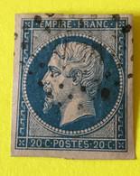 YT 14B - TB - Belles Marges - Planché Panneau A1 Position 14 état 2 - 1853-1860 Napoleon III