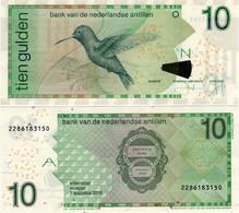 NETHERLANDS ANTILLES      10 Gulden      P-28h       1.8.2016      UNC - Netherlands Antilles (...-1986)