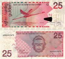 NETHERLANDS ANTILLES      25 Gulden      P-29i       1.8.2016      UNC - Netherlands Antilles (...-1986)