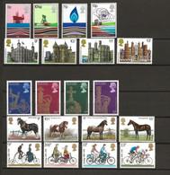 Groot Brittannië, 1978, Castles, Energy, Coronation, Horses, Cycling, MH!! - Ungebraucht