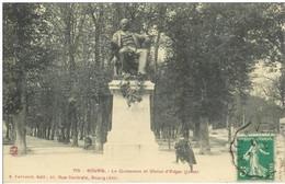 Cpa 01 Bourg En Bresse , Le Quinconce Et Statue D'Edgar Quinet , Voyagée 1912 - Altri