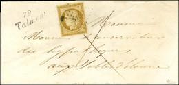 PC 3314 / N° 1 Belles Marges Cursive 79 / Talmont Sur Lettre Locale Pour Les Sables D'Olonne, Au Verso Càd D'arrivée. 18 - 1849-1850 Ceres