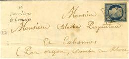 Grille / N° 4 Cursive 86 / Notre-Dame / De-Lumières Sur Lettre Pour Cabannes, Au Verso Càd De Passage AVIGNON Et ORGON.  - 1849-1850 Ceres