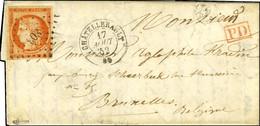 PC 803 / N° 5 Orange Vif, Belles Marges Càd T 15 CHÂTELLERAULT 80 Sur Lettre Pour Bruxelles. 1852. - TB / SUP. - R. - 1849-1850 Ceres