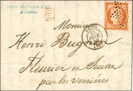Etoile / N° 5 Orange Vif Càd PARIS (60) Sur Lettre Pour La Suisse. 1852. - SUP. - R. - 1849-1850 Ceres