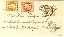Rouleau De Points / N° 5 + 9 (très Belles Marges) Càd PARIS (60) Sur Lettre Pour Chambéry (Etats Sardes). 1853. - SUP. - - 1849-1850 Ceres