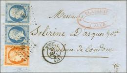PC 168 / N° 5 Belles Marges + 14 Paire Càd T 15 AUCH (31) 24 SEPT. 54 Sur Lettre 3 Ports Pour Valence De Condom. Excepti - 1849-1850 Ceres