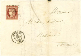PC 1730 / N° 6 Belles Marges Et Superbe Nuance Càd T 15 LIMOGES (81) Sur Lettre 3 Ports Pour Bessines. 1852. - SUP. - R. - 1849-1850 Ceres