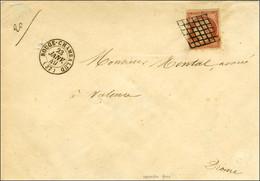 Grille / N° 7 Vermillon Foncé Superbe Nuance (leg Def) Càd T 15 BOUGE-CHAMBALUD (37) 23 JANV. 49 Sur Lettre 3 Ports Pour - 1849-1850 Ceres