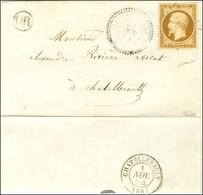 PC 1686 / N° 9 Belles Marges Càd T 22 LEIGNE-SUR-HUSSEAU (80) Sur Lettre Locale Pour Châtellerault. 1854. - TB / SUP. -  - 1852 Louis-Napoleon