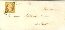 OR (2 Frappes) / N° 9 Bistre Brun Sur Lettre Avec Texte Daté De Pontcharra Le 20 Septembre 1853 Adressée Localement Dans - 1852 Louis-Napoleon