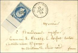 PC 526 / N° 10 Bdf Intégral Filet D'encadrement Et Très Belles Marges Càd T 15 BRIENON-L'ARCHEVEQUE (83) Sur Lettre Pour - 1852 Louis-Napoleon