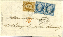PC 2221 / N° 9 Belles Marges + N° 10 Paire Belles Marges Càd T 15 NANTES (42) Sur Lettre Pour Amsterdam. 1853. Exception - 1852 Louis-Napoleon