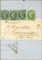 Càd T 15 TAIN (25) / N° 11 Bande De 3 + N° 12 Les 4 Ex Belles Marges Sur Imprimé Complet Adressé Sous Bande Pour Leuward - 1853-1860 Napoleon III